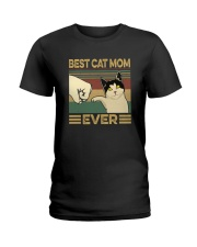 BEST CAT MOM EVER Ladies T-Shirt thumbnail