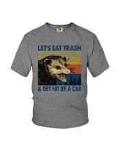 LET'S EAT TRASH AND GET HIT BY A CAR Youth T-Shirt tile