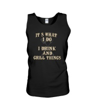 I DRINK AND GRILL THINGS Unisex Tank thumbnail