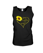 EVEN DARKNESS I SEE HIS LIGHT Unisex Tank thumbnail