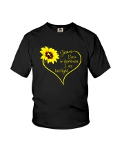 EVEN DARKNESS I SEE HIS LIGHT Youth T-Shirt thumbnail