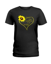 EVEN DARKNESS I SEE HIS LIGHT Ladies T-Shirt thumbnail
