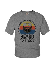 AWESOME DADS HAVE BEARDS AND TATTOOS Youth T-Shirt thumbnail