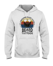 AWESOME DADS HAVE BEARDS AND TATTOOS Hooded Sweatshirt thumbnail