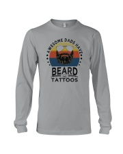 AWESOME DADS HAVE BEARDS AND TATTOOS Long Sleeve Tee thumbnail