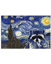 STARRY NIGHT RACCOON 24x16 Poster front