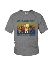 DOGS MAKE ME HAPPY VINTAGE Youth T-Shirt thumbnail
