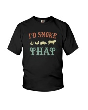 I'D SMOKE THAT BBQ WEED Youth T-Shirt tile