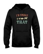 I'D SMOKE THAT BBQ WEED Hooded Sweatshirt thumbnail
