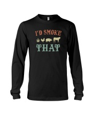 I'D SMOKE THAT BBQ WEED Long Sleeve Tee thumbnail