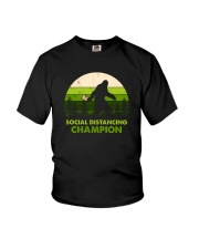 SOCIAL DISTANCING CHAMPION TOILET PAPER BIGFOOT Youth T-Shirt tile