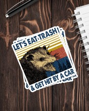 LET'S EAT TRASH AND GET HIT BY A CAR Sticker - 4 pack (Vertical) aos-sticker-4-pack-vertical-lifestyle-front-05