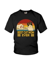 FUNNY GIFT BEST CAT MOM EVER VINTAGE Youth T-Shirt thumbnail