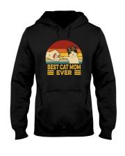 FUNNY GIFT BEST CAT MOM EVER VINTAGE Hooded Sweatshirt thumbnail