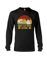 FUNNY GIFT BEST CAT MOM EVER VINTAGE Long Sleeve Tee thumbnail
