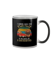 I ASKED GOD FOR A TRUE FRIEND HE SENT A DACHSHUND Color Changing Mug thumbnail