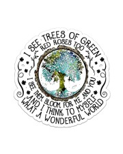 I SEE GREEN TREES Sticker - Single (Vertical) front