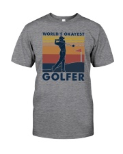 WORLD'S OKAYEST GOLFER VINTAGE Classic T-Shirt front