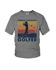 WORLD'S OKAYEST GOLFER VINTAGE Youth T-Shirt thumbnail