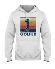 WORLD'S OKAYEST GOLFER VINTAGE Hooded Sweatshirt thumbnail
