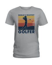 WORLD'S OKAYEST GOLFER VINTAGE Ladies T-Shirt thumbnail