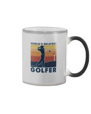 WORLD'S OKAYEST GOLFER VINTAGE Color Changing Mug thumbnail