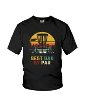 BEST DAD BY PAR DISCGOLF Youth T-Shirt tile