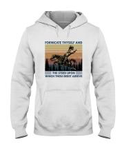 FORNICATE THYSELF Hooded Sweatshirt thumbnail