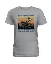 FORNICATE THYSELF Ladies T-Shirt thumbnail