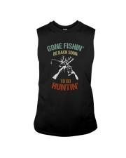 GONE FISHIN BE BACK SOON TO GO HUNTIN Sleeveless Tee thumbnail