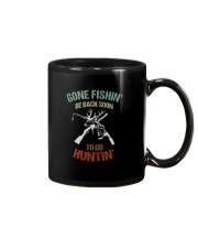 GONE FISHIN BE BACK SOON TO GO HUNTIN Mug thumbnail