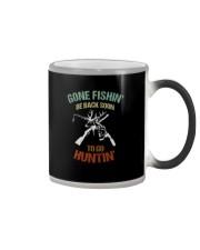 GONE FISHIN BE BACK SOON TO GO HUNTIN Color Changing Mug thumbnail