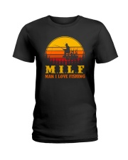 MILF MAN I LOVE FISHING VINTAGE Ladies T-Shirt thumbnail