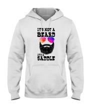 IT'S NOT A BEARD IT'S A SADDLE Hooded Sweatshirt thumbnail