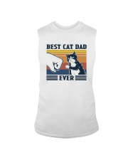 BEST CAT DAD EVER VINTAGE Sleeveless Tee thumbnail