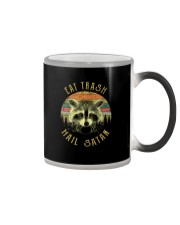 EAT TRASH HAIL SATAN Color Changing Mug thumbnail