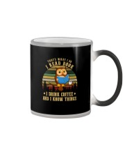 READ BOOKS DRINK COFFEE AND KNOW THINGS Color Changing Mug thumbnail