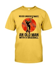 old man baseball Classic T-Shirt front