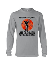 old man baseball Long Sleeve Tee thumbnail