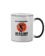 old man baseball Color Changing Mug thumbnail