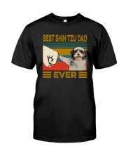 BEST Shih tzu DAD EVER Classic T-Shirt front