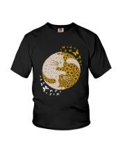 YIN YANG CATS SUNFLOWER Youth T-Shirt thumbnail