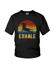 FRENCH BULLDOG EXHALE VINTAGE Youth T-Shirt thumbnail