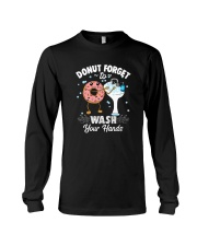 DONUT FORGET TO WASH YOUR HANDS Long Sleeve Tee thumbnail