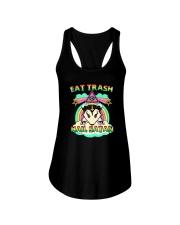 EAT TRASH HAIL SATAN Ladies Flowy Tank thumbnail