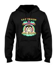 EAT TRASH HAIL SATAN Hooded Sweatshirt thumbnail