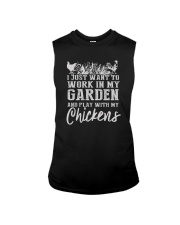 WORK IN MY GARDEN AND PLAY WITH MY CHICKENS Sleeveless Tee thumbnail
