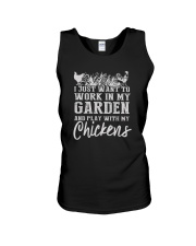 WORK IN MY GARDEN AND PLAY WITH MY CHICKENS Unisex Tank thumbnail