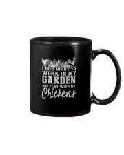 WORK IN MY GARDEN AND PLAY WITH MY CHICKENS Mug thumbnail