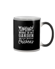 WORK IN MY GARDEN AND PLAY WITH MY CHICKENS Color Changing Mug thumbnail